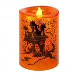 Halloweenljus med timer, Orange