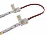 CLICK dubbelkontakt för 8mm LED-strips + 14cm kabel