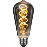 E27 LED lampa med spiralfilament