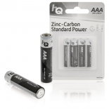 4-pack HQ Zink-kol batterier AAA