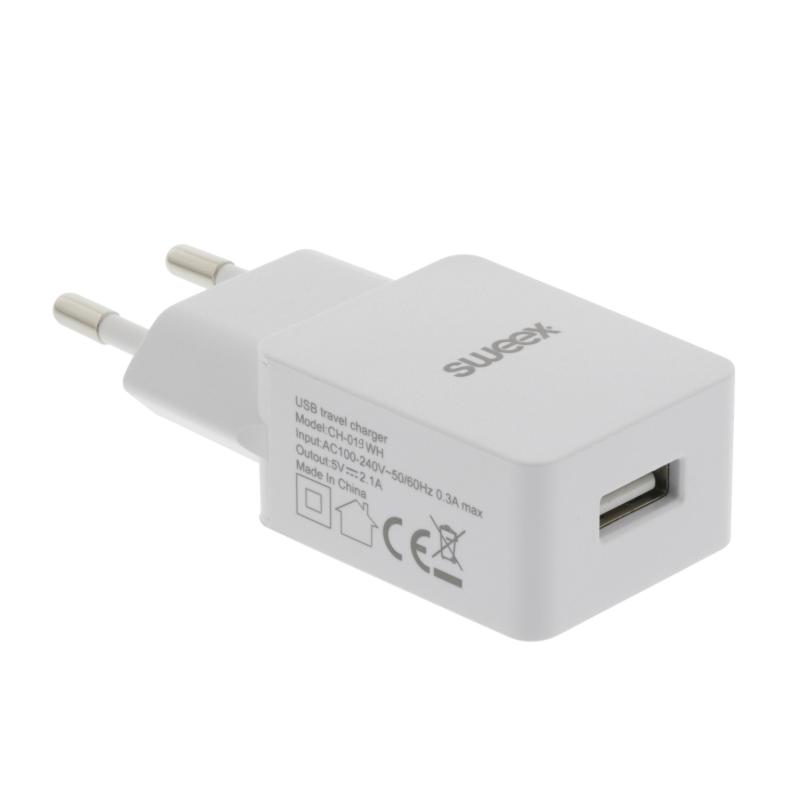 USB Väggladdare 1 Utgång 2.4A Mobil & 12 V Wattväktarna