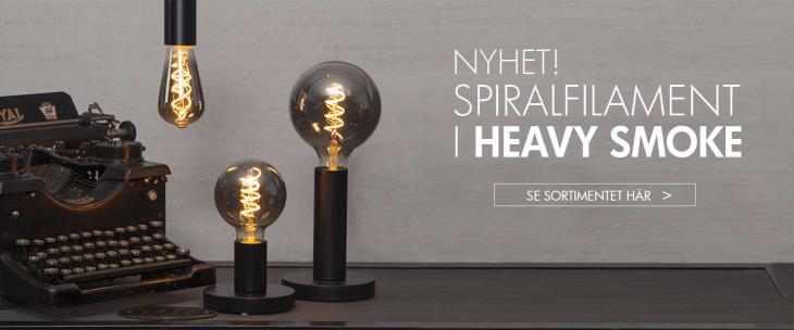LED lampa HEAVY SMOKE med spiralfilament E27 Wattväktarna